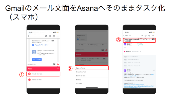 Gmail から Asana へタスクインポート 3